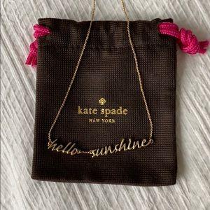 Kate Spade Hello Sunshine necklace